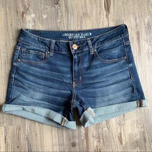American Eagle 12 Midi Denim Jeans Shorts AEO